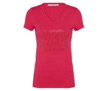 T-Shirt 'studs Logo' dunkelpink