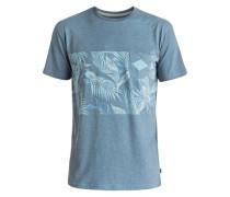 'Faded Time' Pocket-T-Shirt rauchblau