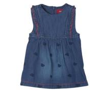 Jeanskleid mit Stickereien dunkelblau