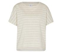 T-Shirt 'Onlcappy' creme / grau