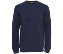 Detail-Pullover blau