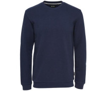 Detail-Pullover nachtblau