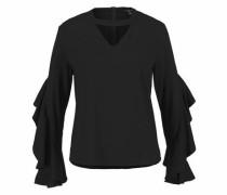 Rüschenbluse »Frill Sleeve Blouse« schwarz