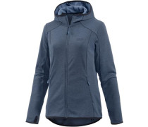 Hooded Fleecejacke 'Drynetic' taubenblau