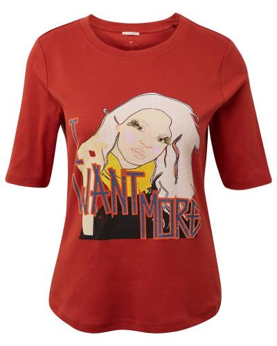 T-Shirt 'Nena & Larissa' orangerot