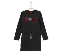 Sweat-Kleid mit Pailletten schwarz