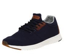 Sneaker mit Lederbesatz navy
