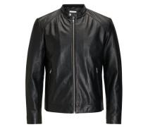 Minimale Biker-Jacke schwarz