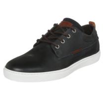 Schlichter Sneaker aus Leder navy