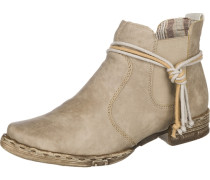 Chelsea Boots mit Zierbändern weiß