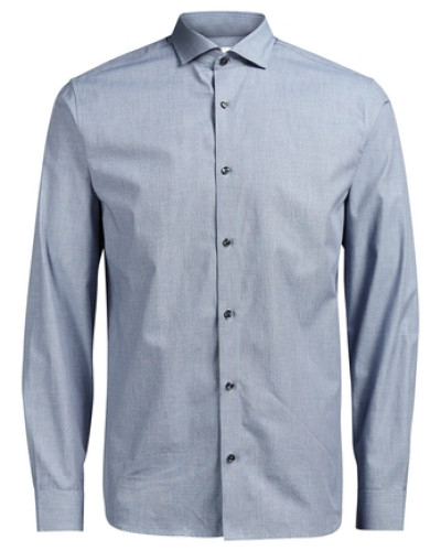 jack jones herren formelles anzug langarmhemd blau. Black Bedroom Furniture Sets. Home Design Ideas