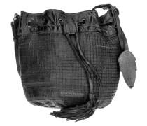 Cut it Vintage Pixie Beuteltasche Leder 24 cm schwarz