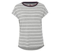 Shirt mit Streifen grau / weiß