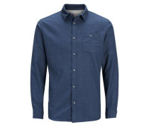 Langarmhemd Klassisches blau