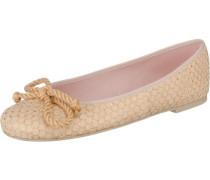 Ballerinas 'Ipnotic' mit Kordelschleife beige / gold