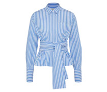 Bluse 'Janne' blau / weiß