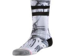 Sneakersocken Damen schwarz / weiß