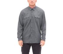 Regular: Hemd mit Musterstruktur grau / weiß