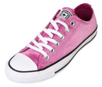 Samt-Sneaker 'Chuck Taylor All Star ox' pink / schwarz / weiß
