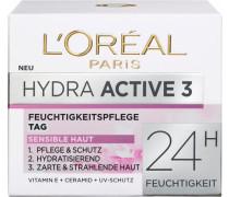 'Hydra Active 3 sehr trockene und sensible Haut' Gesichtspflege weiß
