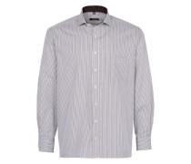 Langarm Hemd Comfort FIT braun / weiß