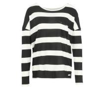 Langarmshirt mit Streifen schwarz / weiß