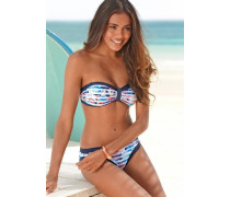 Bandeau-Bikini blau / hellblau / pink / weiß