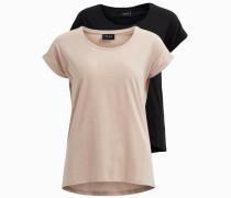 T-Shirt nude / schwarz