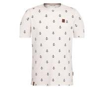 T-Shirt 'Fuck ' beigemeliert / dunkelbraun