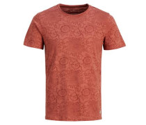 Bedrucktes T-Shirt rot