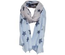 Print-Schal blau
