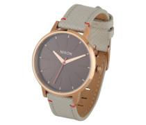 Armbanduhr 'Kensigton Leather' (Gehäuse: 33 mm) beige / rosé