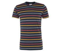 T-Shirt 'yd stripe tee s' navy / gelb / rot
