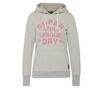 Sweatshirt 'Athl. League' graumeliert / pink