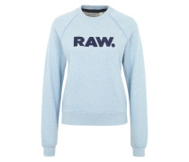Sweater 'Xula Art Straight' hellblau / schwarz