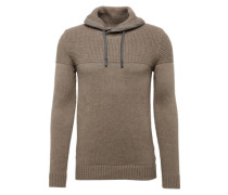 Pullover 'struc cowl nk' dunkelgrau