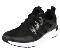Sneaker mit dämpfender Laufsohle schwarz