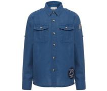 Langarm Hemd blau