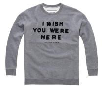 Sweatshirt 'thdw EUR CN Hknit L/S 30' graumeliert