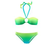 Bandeau-Bikini grün