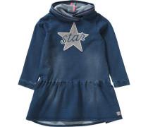 Kinder Sweatkleid Stern blau