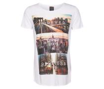 T-Shirt mit Fotoprint weiß