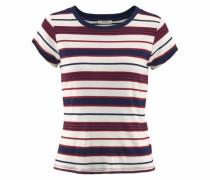 T-Shirt dunkelblau / bordeaux / weiß