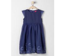 Elegantes Mesh-Kleid blau