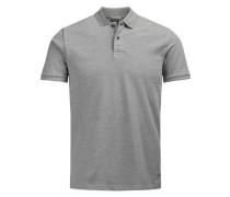 Pikee-Poloshirt grau