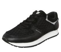 Sneaker 'Linda' mit schönem Mesh-Lochmuster schwarz