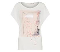Casual T-Shirt altrosa / offwhite