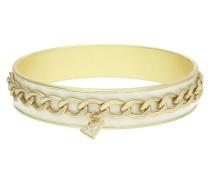 Damen Armreif Metall Gold/Weiß Umfang 20 cm gold / weiß