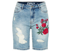 Denim Shorts 'tonni' blue denim / grün / rot