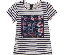 T-Shirt für Mädchen beige / dunkelblau